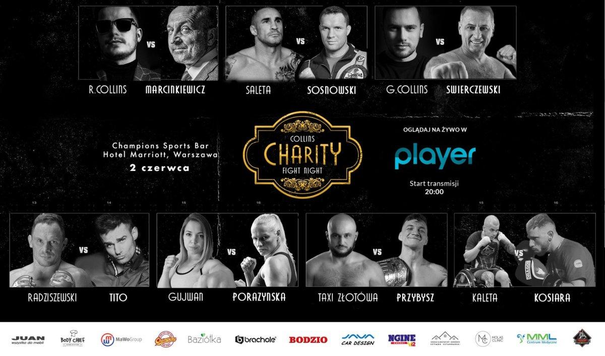 Pierwsza charytatywna gala - Collins Charity Fight Night