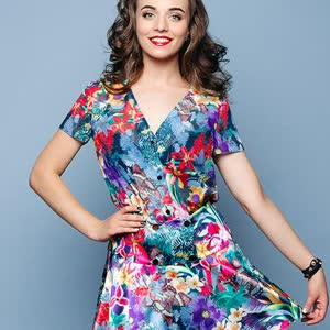 A light dress with a floral motif Joanna Sejno size 36-48